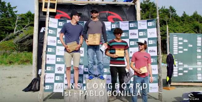 Pablo Bonilla Rip Curl Pro Surf Longboard Champ